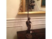 Bronze effect table lamp