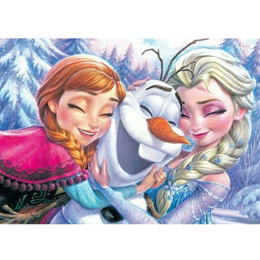 5D Full Drill Diamond Painting Frozen Sisters Embroidery Cro