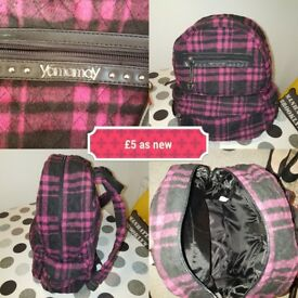 Yamayay pink/black Rucksack/bag(as new)