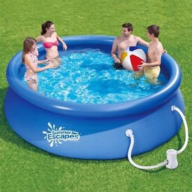 NEW summer escapes quick set 10ft Swimming Paddling Pool