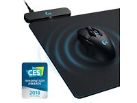 Logitech G903 gaming mouse and Powerplay charging mousepad