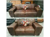 Italian leather 3 & 2 seater sofas cost £3000 new can deliver