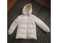 Gucci girls jacket size 5 years old winter coat white