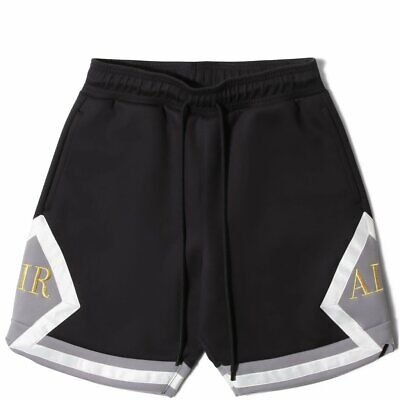 00b43fd0aa7 Nike Air Jordan Remastered Diamond Shorts Black Metallic Gold AT9956-010  Size L