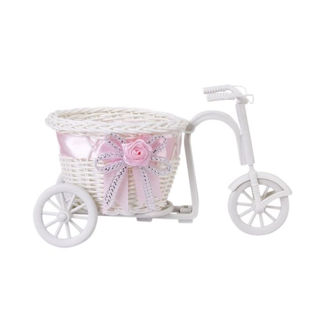 Tricycle/Bike Flower Basket for Flower Vase and Storage Decoration Gift HY