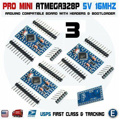 3pcs Atmega328p Pro Mini Board Module For Arduino Pro Mini 5v 16mhz Atmega328 Us