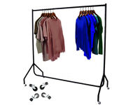 6 FT Heavy Duty Metal Garment Display Rail Clothes Shop Hanging Stand Rack