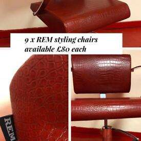 REM hairdressing salon styling chairs
