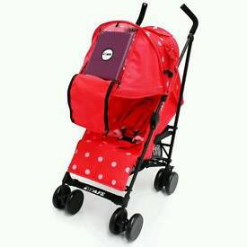 iSafe Red Bow Dots Media Viewer Stroller