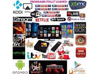 Android TV Box Fully Loaded with Sports, Movies, TV Shows and 2000+ Channels