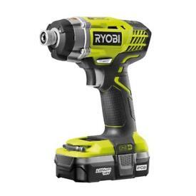 Ryobi impact driver one+ 18v with battery BRAND NEW