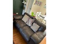 Brown leather sofa for sale selling as replaced with new sofa