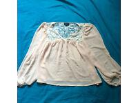 TOP SHOP, size S, beautiful nude color, lace