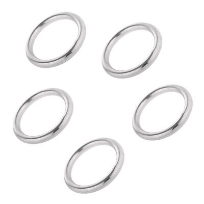 5pcs Polished Welded 304 Stainless Steel Round O-ring 15mm 20mm 25mm 30mm 35mm