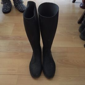 Rubber horse riding boots