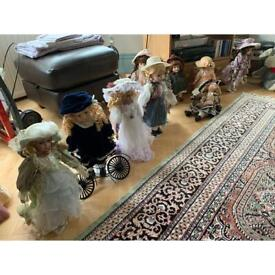 Various porcelain dolls - 10 available - price is each