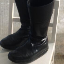 MBT black leather boots