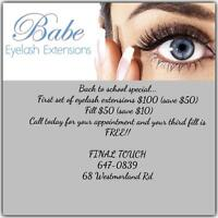 NOW OFFERING EYE LASH EXTENSIONS