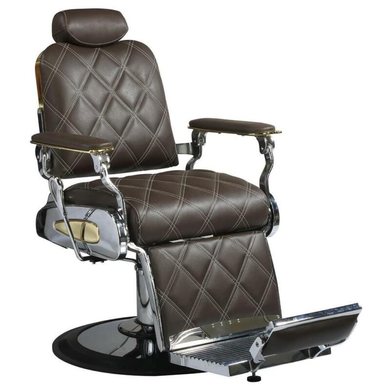 Professional High Quality Hydraulic Reclining Barber Chair Custom Diamond Brown