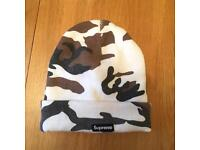 SUPREME Brown Camo Beanie FW 2016 Box Logo Winter Hat Cap New SOLD OUT