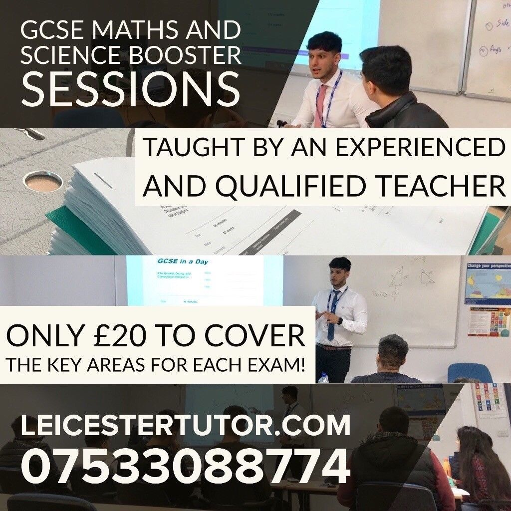 Group Tuition for GCSE Science and Maths Exams / Qualified Teacher / Tutor