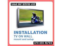 Tv wall mounting bracket shelf