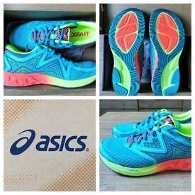 Worn once nearly new Asics Noosa ff running shoes trainers FlyteFoam UK 6-6.5 (uk7 but run small)
