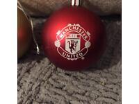 Man Utd Christmas Baubles