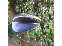 Trilogy Rusty 58 Degree Wedge Soft Spin Golf Club USED RH REG FLEX STEEL SHAFT