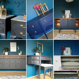 Professionally painted furniture Chest Of Drawers Sideboards Bedside Tables dressing tables
