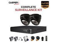 HD 4CH DVR 2MP 1080p EYEBALL 4 in 1 Dome Camera Night Vision 25m IR CCTV kit
