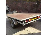 Flatbed quad bike trailer