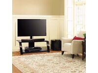"""Bell'O Triple Play"""" Metal and Glass TV Stand with Bracket for TVs up to 55 - new in sealed box"""