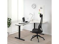 3x IKEA Bekant Electric Standing/Sitting Desks - Left Corner White £250 Each (50% Retail)