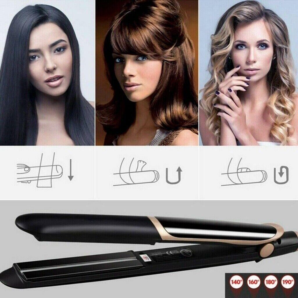 2in1 Classic Keramik Glätteisen Haarglätter Straightener Hair Styler Lockenstab