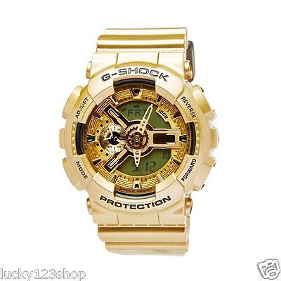 aa242658be4 GA-110GD-9A Gold Casio Unise Watches G-Shock 200M Analog Digital X-Large  Resin. 100% Original Genuine Casio Watch