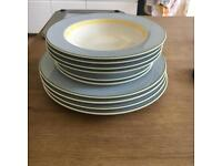 Villeroy & Boch dinner plates, soup bowls and side dishes.