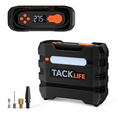 TACKLIFE Car Tire Inflator 12V DC Portable Air Compressor with 3 LED Lights