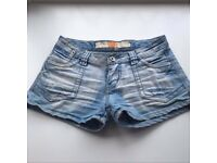 MISS CHIC Blue Denim Booty Shorts Size 8