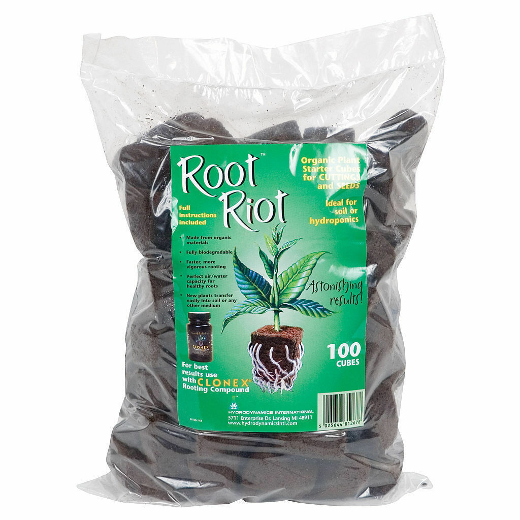 Root Riot 100 Replacement Cubes Organic Seed Moistened Starter