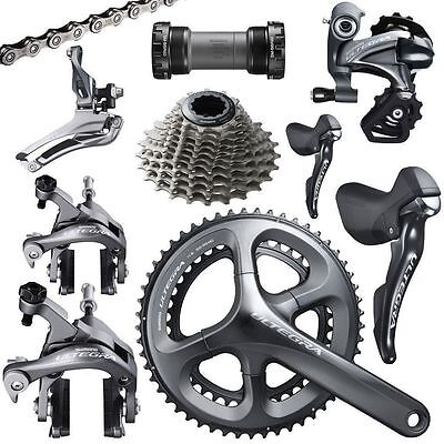 NEW 2016 Shimano Ultegra 6800 9 piece 11 Speed Grey Group Set FULLY CUSTOMIZABLE