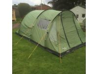 Vango 4 person tent with awning and many extras, sleeping bags, lighting, kitchen & electrics