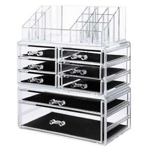 NEW SONGMICS Makeup Organizer Cosmetic Storage Drawers Jewelry Display Case 3 Pieces