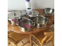 Stainless pot set
