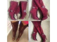 New luxury lace up boots