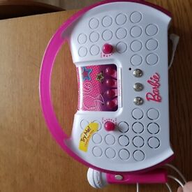 Barbie music player with mic and mp3 plug in
