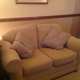 TWO VERY COMFORTABLE TWO SEATER SOFAS. BESPOKE MADE NOT MASS PRODUCED