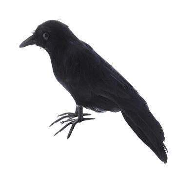 Raven Decorations For Halloween (Artificial Crow Black Bird Raven Prop Decor For Halloween Display)