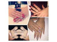 Nail Technician. JUNE OFFER!! FULL SET OF ACRYLICS WITH SHELLAC COLOUR £25!