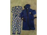 Age 9-10 Chelsea onesie and dressing gown